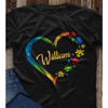 Personalized heart autism shirt GST
