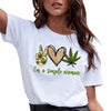 Simple woman 420 weed shirt GST
