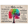 To my mother in law i'm blessed to have you in my life poster canvas - GST