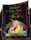 Personalized i love you than all the stars unicorn blanket GST