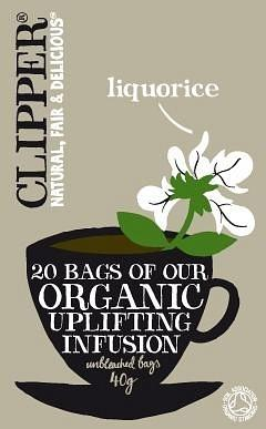 Clipper Organic Uplifting Infusion - Liquorice 20 Teabags