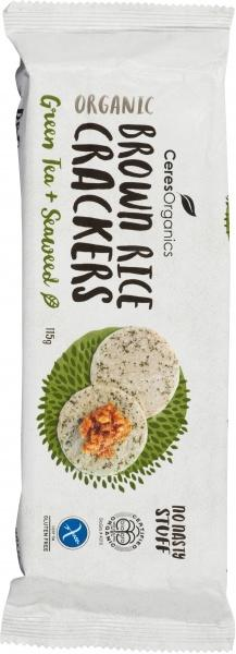 Ceres Organics Bio Brown Rice Crackers Seaweed G/F 115g