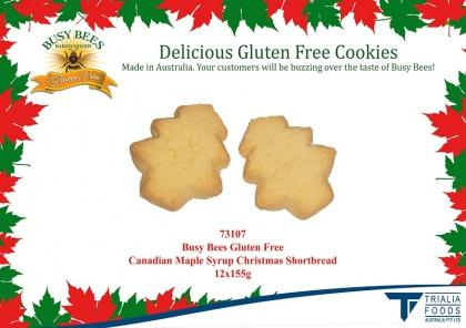 Busy Bees Canadian Maple Syrup Christmas Shortbread 155g