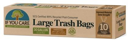 If You Care Trash Bags with Drawstring  (30Gallon/113.6L) 10Bags