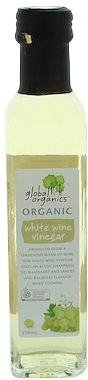 Global Organics White Wine Vinegar G/F 250ml