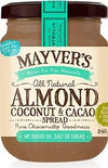Mayvers Almond, Coconut & Cacao Spread G/F 240g