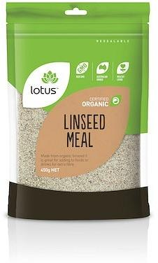 Lotus Linseed (Flaxseed) Meal Organic G/F 450g