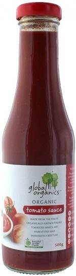 Global Organics Organic Tomato Sauce Glass 500g