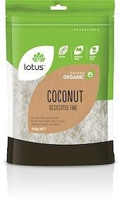 Lotus Organic Coconut Desiccated Fine G/F 250g