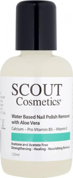Scout Cosmetics Water Based Nail Polish Remover with Aloe Vera & Vitamin C Vegan 125ml