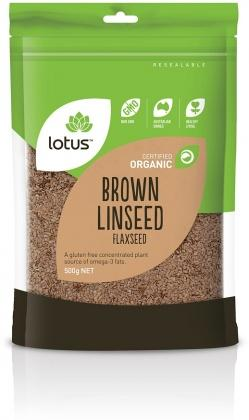 Lotus Organic Brown Linseed/Flaxseed 500g