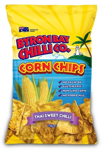 Byron Bay Chilli Thai Sweet Chilli Cornchips G/F 12x175g
