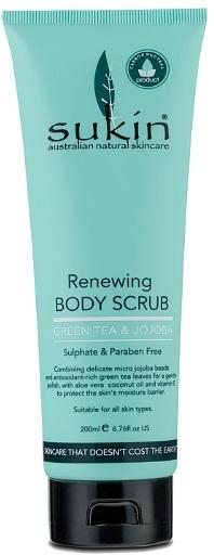 Sukin Renewing Body Scrub with Green Tea & Jojoba 200ml