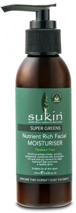 Sukin Super Greens Nutrient Rich Facial Moisturiser 125ml Pump