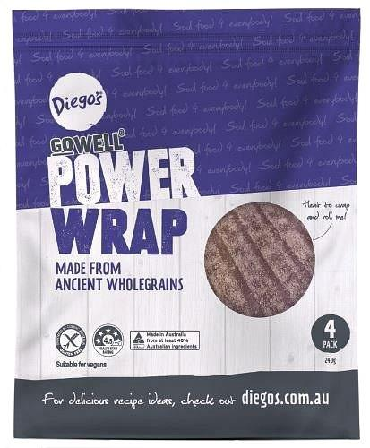 Diego's GoWell Power Wrap (4Pack) 240g