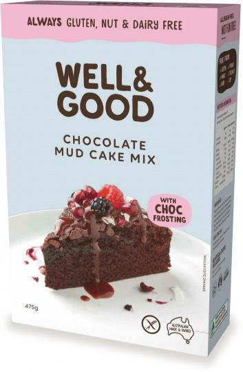 Well And Good Choc Mud Cake Mix & Choc Frosting G/F 475g