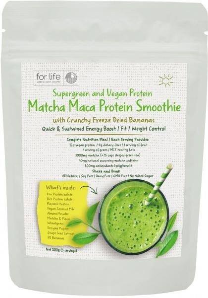 For Life Matcha Protein Smoothie Powder Banana 200g