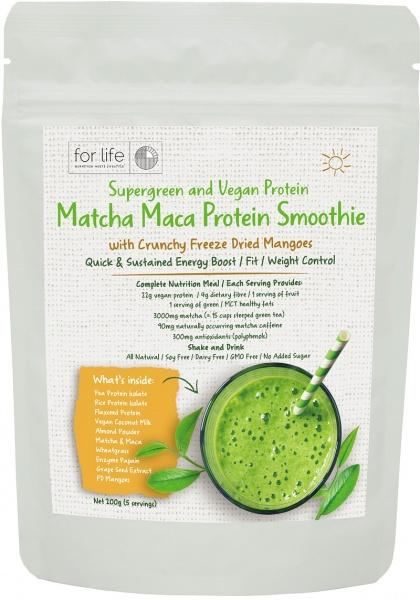 For Life Matcha Protein Smoothie Powder Mango 200g