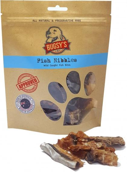 Bugsy's Pet Treats Fish Nibbles Wild Caught Fish Bites 100g