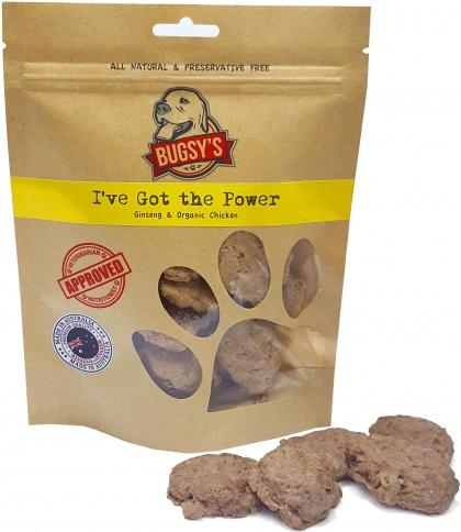 Bugsy's Pet Treats I've Got The Power Aust Chicken & Ginseng 70g