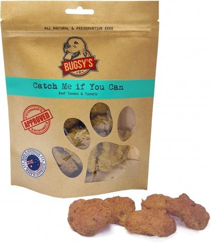 Bugsy's Pet Treats Catch Me If You Can Beef Tendon & Turmeric 70g