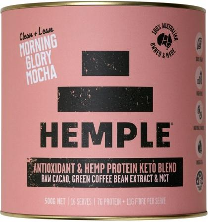 Hemple Clean & Lean Morning Glory Mocha (Raw Cacao, Green Coffee Bean Extract & MCT) 500g *+