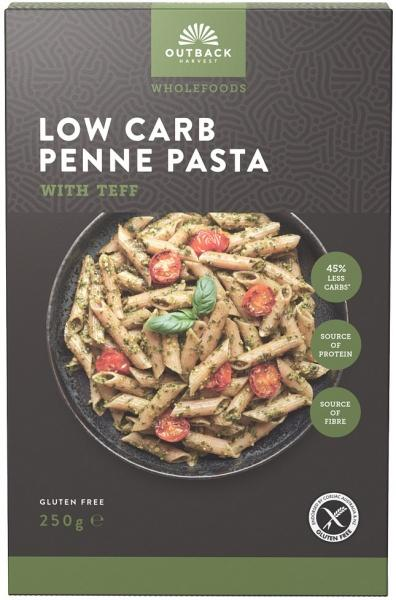 Outback Harvest Wholefoods Low Carb Penne Pasta w/Teff 250g
