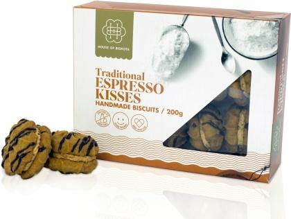 House of Biskota Traditional Espresso Kisses Biscuits 200g