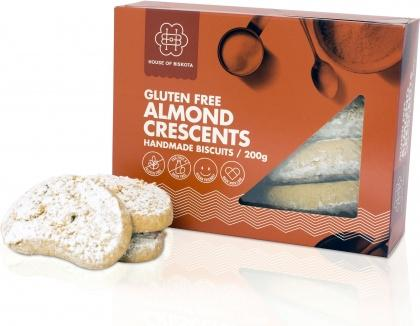 House of Biskota Gluten Free Almond Crescents Biscuits 200g