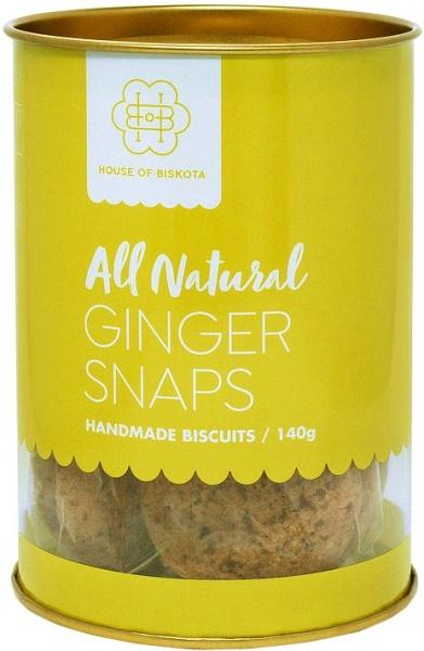 House of Biskota All Natural Ginger Snaps Biscuits G/F 140g