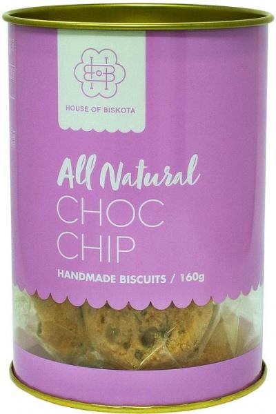 House of Biskota All Natural Choc Chip Biscuits G/F 160g