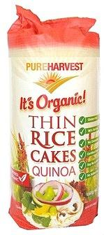 Pure Harvest Organic Thin Rice Cakes with Quinoa G/F 150g