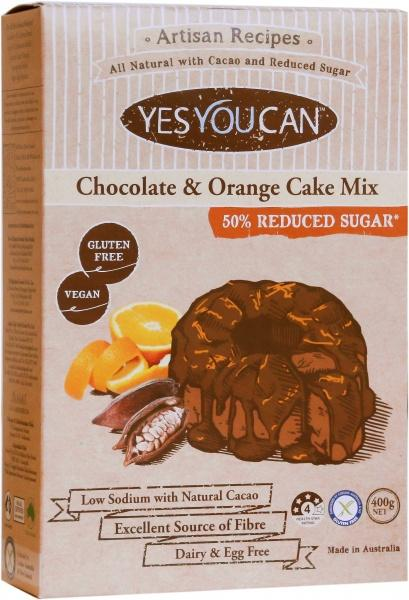 YesYouCan Artisan Chocolate & Orange Cake Mix G/F 400g