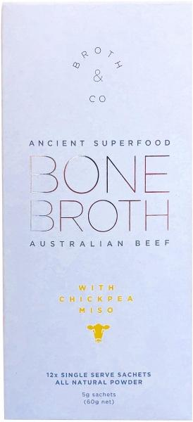 Broth & Co Australian Beef Bone Broth & Miso Powder 5g Sachets (Box of 12) 60g