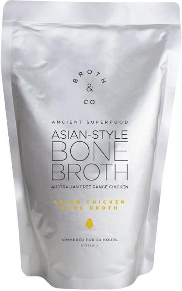 Broth & Co Asian Chicken Bone Broth Liquid Free Range 500ml