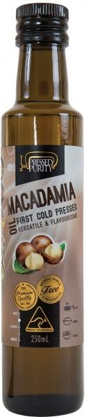 Pressed Purity Macadamia Oil G/F 250ml