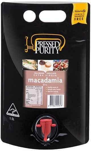 Pressed Purity Macadamia Oil G/F 1.5L