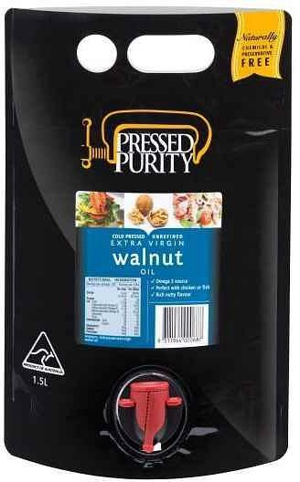 Pressed Purity Walnut Oil G/F 1.5L