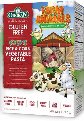 Orgran Animal Shaped Rice & Corn Pasta 200gm