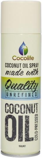 Cocolife Premium Organic Virgin Coconut Oil Spray G/F 150g