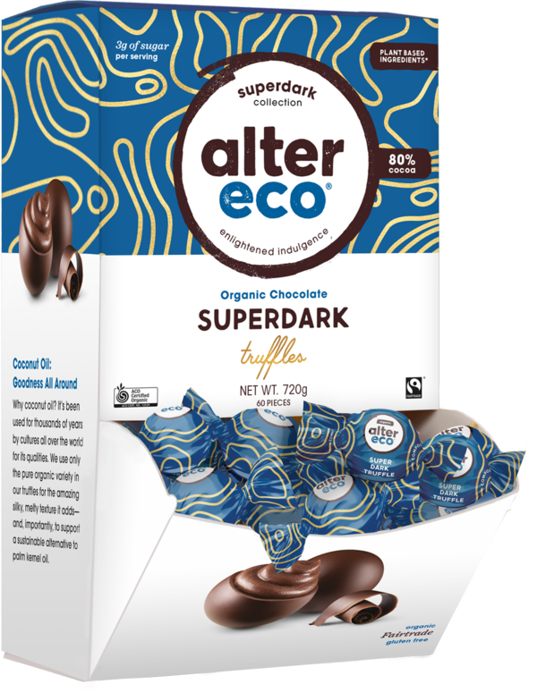 ALTER ECO Chocolate (Organic) Superdark Truffles - Display 60x12g