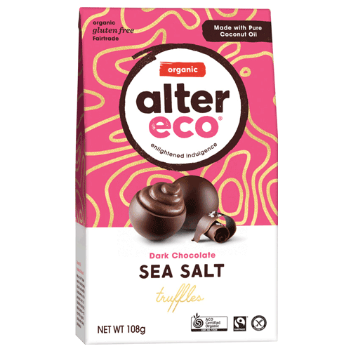 ALTER ECO Chocolate (Organic) Classic Dark Truffles - Display 60x12g