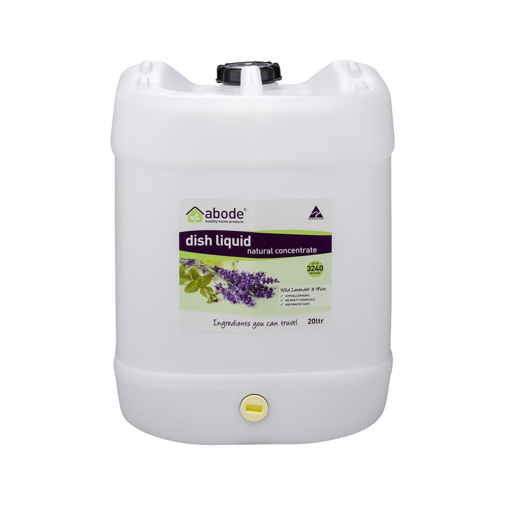 ABODE Dish Liquid Concentrate Wild Lavender & Mint 20L Drum with Tap