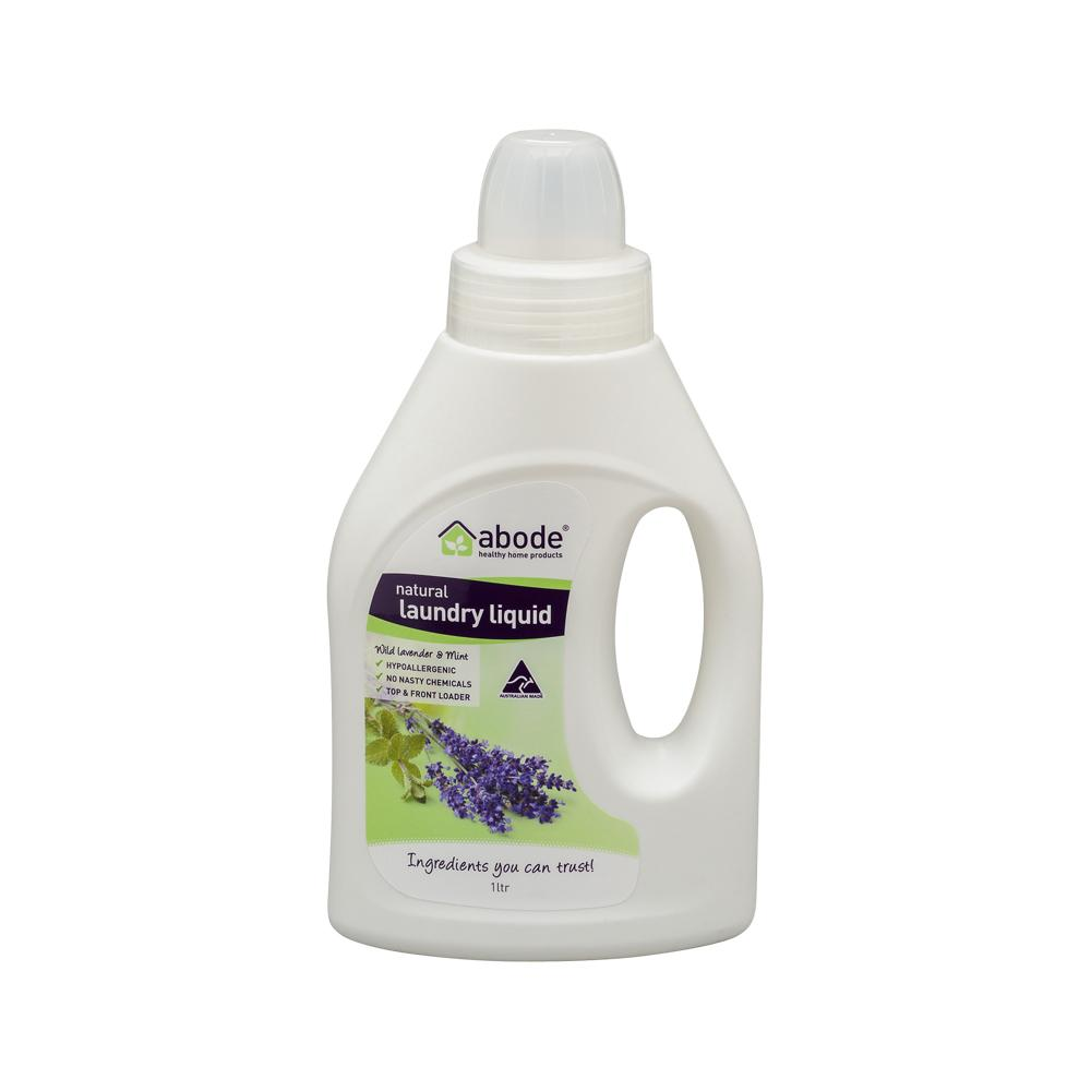 ABODE Laundry Liquid (Front & Top Loader) Wild Lavender & Mint 1L