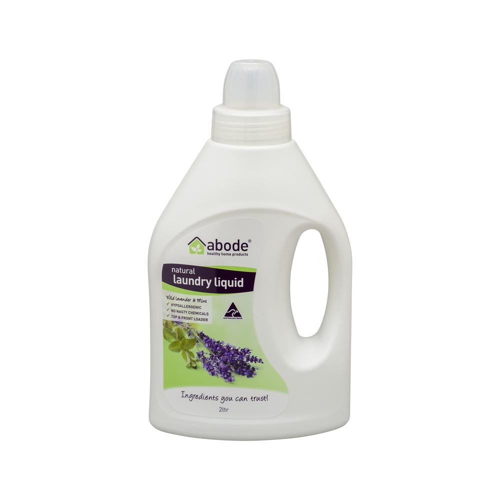 ABODE Laundry Liquid (Front & Top Loader) Wild Lavender & Mint 2L