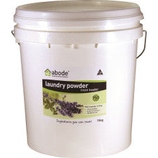 ABODE Laundry Powder (Front & Top Loader) Wild Lavender & Mint 15kg Bucket