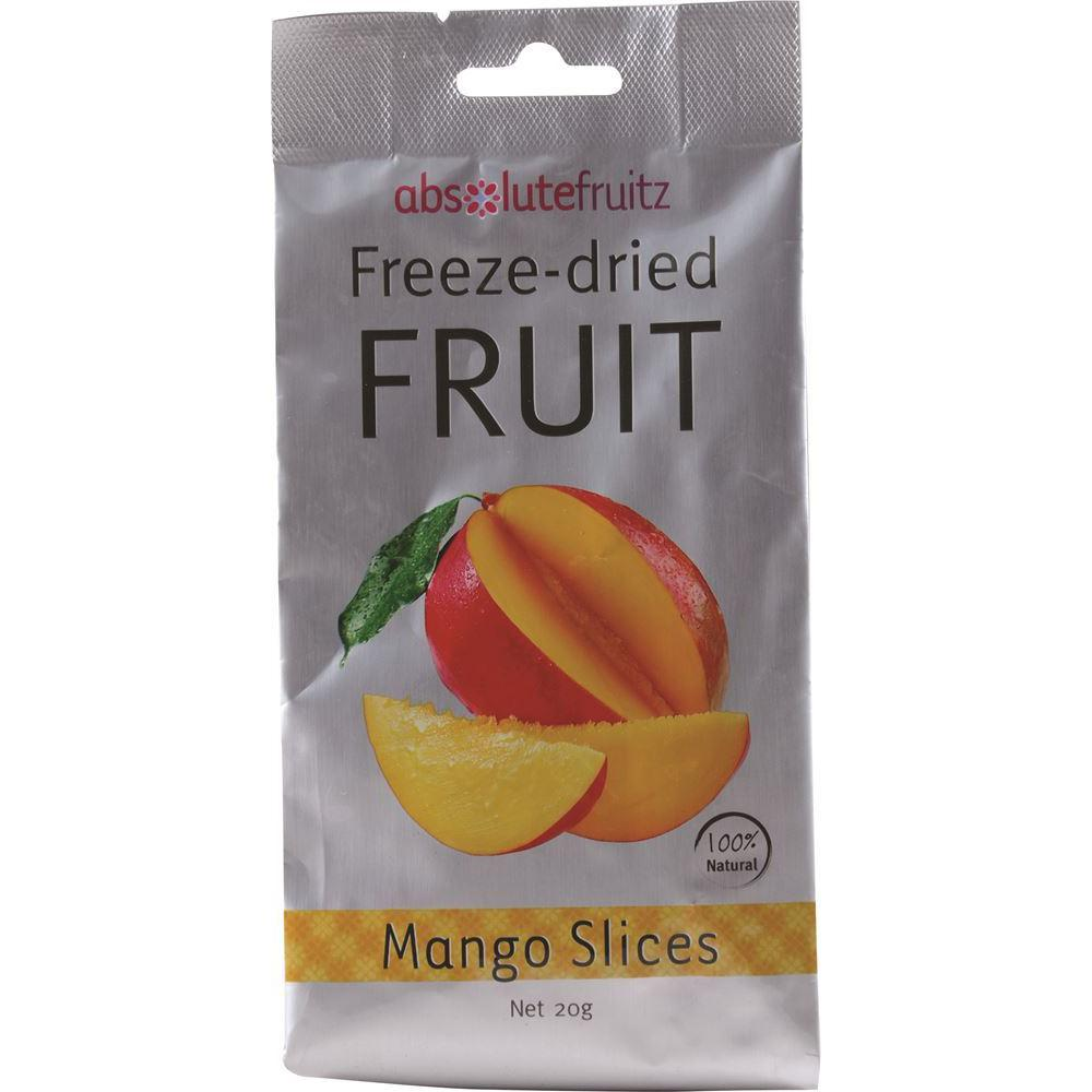 ABSOLUTEFRUITZ Freeze-Dried Mango Slices 20g