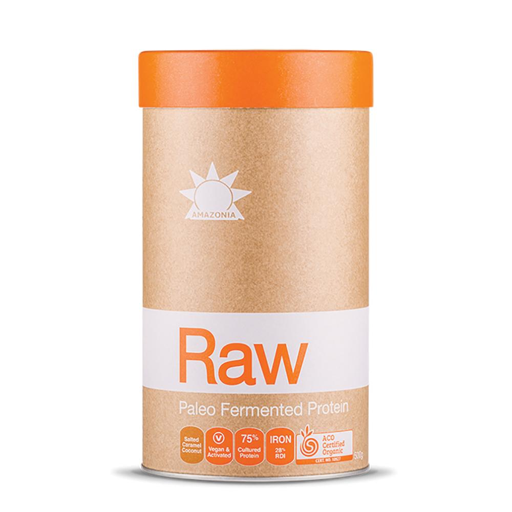 AMAZONIA Raw Protein Paleo Fermented Salted Caramel Coconut 500g