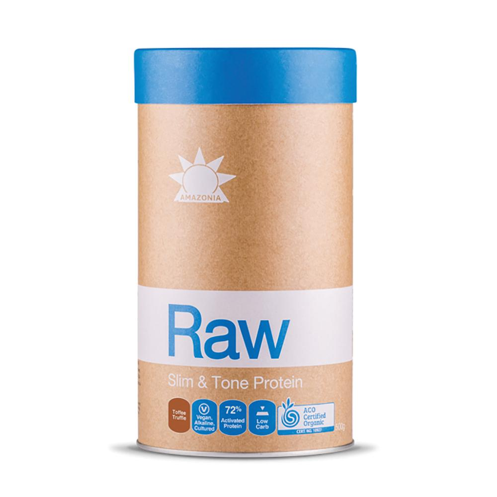 AMAZONIA Raw Protein Slim and Tone Toffee Truffle 500g