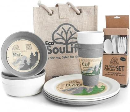 EcoSouLife Bamboo Picnic Set Swiss Alps